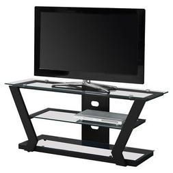 Monarch Specialties 48 in. Metal/Glass TV Stand