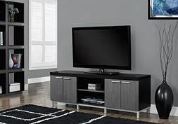 Monarch Specialties Black/Grey Hollow-Core TV Console, 60-In
