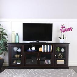 New 70 Inch Wide Highboy Style Wood Tv Stand-Espresso Brown