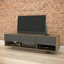 Nexera 105142 Radar TV Stand, 60-inch, Walnut & Charcoal