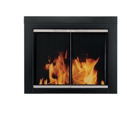 Pleasant Hearth AP-1130 Alsip Fireplace Glass Door, Black, S