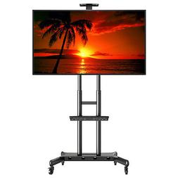 Rolling TV Stand Cart Mount Wheels for OLED, LED, Flat Scree