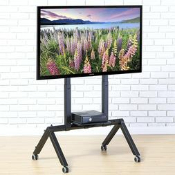 Rolling TV Stand With Wheels Media Cart For up to 70 inch Of