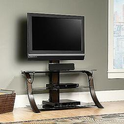 Sauder 413906 Veer Panel TV Stand with TV Mount, For Tv's up