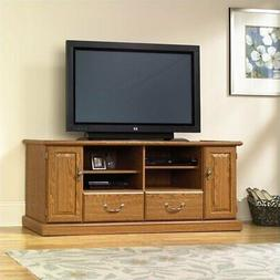 Sauder Orchard Hills Wood TV Stand in Carolina Oak finish