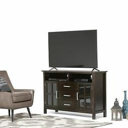 Simpli Home 3AXCRIDTVS Kitchener Solid Wood Tall TV Media St