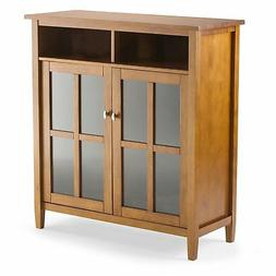 Simpli Home Warm Shaker Solid Wood Medium Storage Cabinet, H