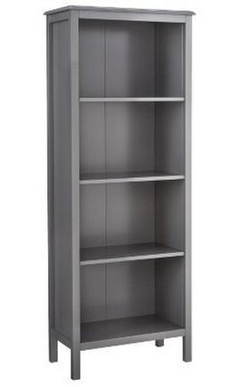 Threshold Windham 4-Shelf Bookcase - Gray / Grey