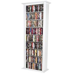 Venture Horizon Media Storage Tower-Tall Single White