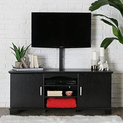 "W. Designs 60"" Jamestown Black Storage TV Console with Mount"
