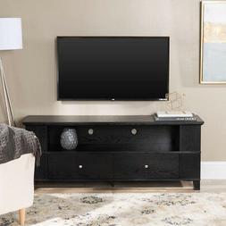 "Walker Edison 58"" Black Wood Storage TV Cabinet"