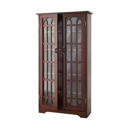 Window Pane Media Cabinet, Oak