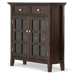Simpli Home Acadian Solid Wood Entryway Storage Cabinet, Tob