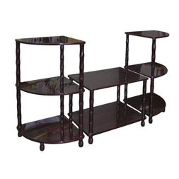 3 Pc Accent Table Set in Dark Cherry Finish