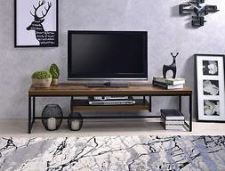 Acme Bob TV Stand in Weathered Oak and Black Finish 91780