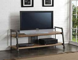 Acme Caitlin II TV Stand in Oak and Sandy Black Finish 91240