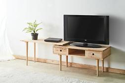 Acme Garnet TV Stand with Extension Top in Natural Finish 81