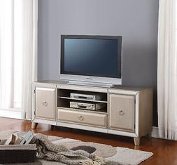 Acme Voeville TV Stand in Antique Gold Finish 91203