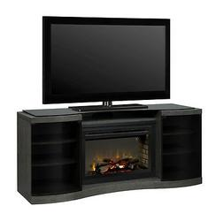 "Dimplex Acton walnut electric TV fireplace media stand 33"" M"