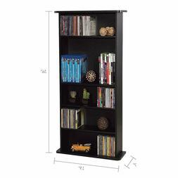Adjustable Media Storage Cabinet CD DVD Rack Video Games Org