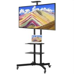 "32-65"" Adjustable Mobile TV Stand Mount Universal Flat Scr"