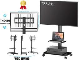 Adjustable TV Stand Mobile Cart Mount Wheels for Plasma LED