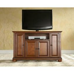 Crosley Alexandria Cherry Wood TV Stand with 4 Cabinet Doors