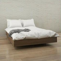 Nexera Alibi Queen Size Platform Bed Walnut