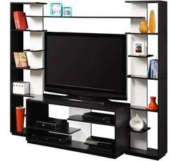 Altra Black and White Home Entertainment Center with Two Rev