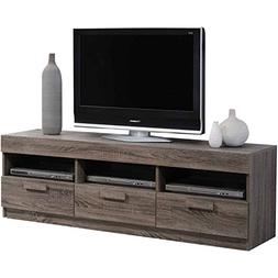 ACME Alvin Rustic Oak TV Stand for Flat Screen TVs up to 60""