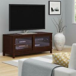 Ameriwood Basics McClay TV Stand with Glass Doors for TVs up