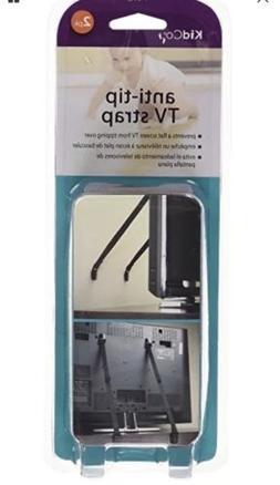 KidCo anti-tip TV strap 2 pack black