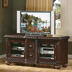 Antoinette TV Cabinet in Distressed Cherry Finish