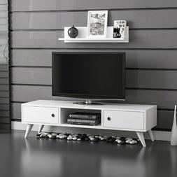 Aspen Tv Stand Media Console Entertainment Cabinet Wood Tv T