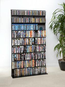 Atlantic Media Storage Cabinet DVD CD Tower Rack Shelf Shelv