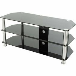AVF SDC1140CM-AClassic - Corner Glass TV Stand with Cable Ma