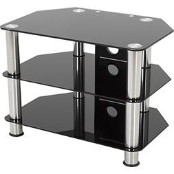 AVF SDC800CM-A: Classic - Corner Glass TV Stand with Cable M
