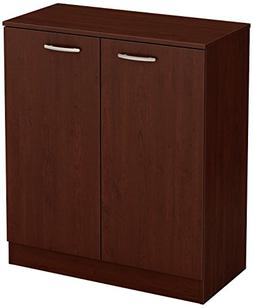 South Shore Axess 2-Door Storage Cabinet, Royal Cherry New