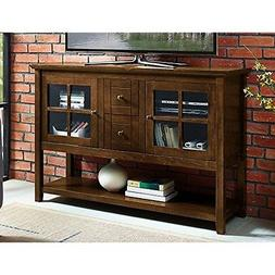 WE Furniture AZ52C4CTWT Wood Console Table, Walnut