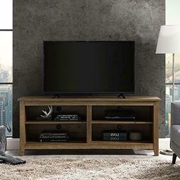 """WE Furniture AZ58CSPRO TV Stand 58"""" Rustic Oak"""