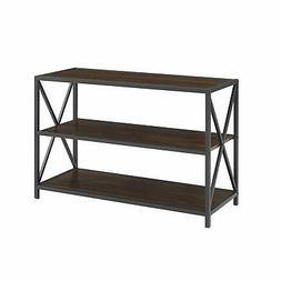 WE Furniture AZS40XMWDW Media Bookshelf, Dark Walnut