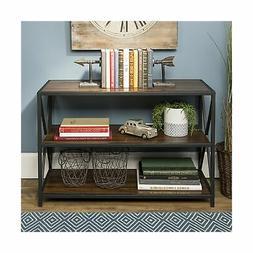 WE Furniture AZS40XMWDW Media Bookshelf Dark Walnut