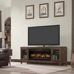 "Foundry Select Bales 76"" TV Stand with Fireplace"