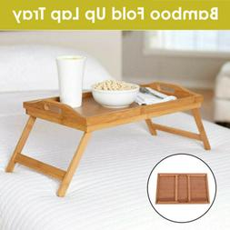 Bamboo Folding Table Bed Laptop Desk Dinner Coffee Tea TV Tr