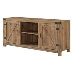 Manor Park Barn Door TV Stand with Side Doors