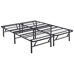Mainstays Bed Frame Mattress Queen Size Metal Adjustable Rai