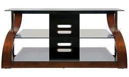 Bell O Vibrant Espresso Finish curved wood A/V Furniture CW3