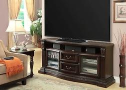 "Bella Traditional 67"" TV Console with Power Center in Dark S"