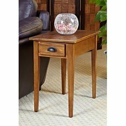 Bin Pull 15 in. Chair-Side End Table in Candleglow Finish