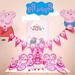 Peppa Pig Birthday Party Sets Anime Figure Party Holiday Cup